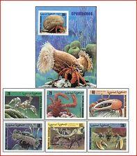 SAH9905 Crustaceans 6 stamps and block MNH SAHARA 1999