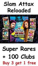 WWE Slam Attax Reloaded 100 Clubs + Super Rare Cards Hundred Club Rares Card