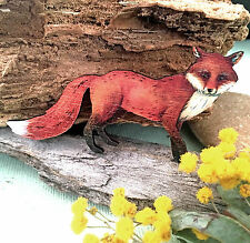 Fox wood BROOCH jewellery/ Animal brooches/ Wooden fashion accessory/ Lapel pin