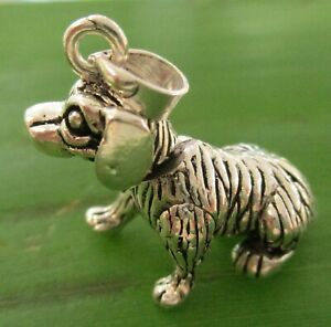 "REAL 925 sterling silver 28mmx31mm movable ""dog"" pendant - Boy Girl MEN WOMEN"
