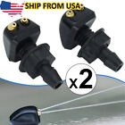 2x Universal Dual Holes Car Front Windshield Washer Nozzle Wiper Water Spray Jet  for sale