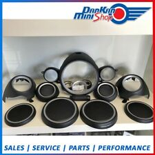 MINI R56 COOPER ONE - DIAL SURROUND KIT - NEW - BLACK AND GREY