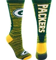 Green Bay Packers NFL For Bare Feet Jump Key Men's Crew Socks SZ L