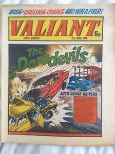 Valiant 21/6/1975 Captain Hurricane, Adam Eterno, Billy Bunter IPC Comic
