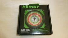 "Hilmor 1839087 Analog 3-1/8"" 80mm R12 R22 R134a Refrigerant High Pressure Gauge"