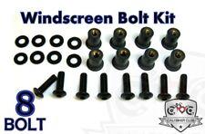 Windscreen BLACK Bolts Windshield Bolt Kit Kawasaki ZX-6R ZX6R ZX6 98 99 2000 01