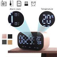 Bluetooth 4.2 Wireless Stereo Subwoofer Speaker FM Radio Alarm Clock Thermometer
