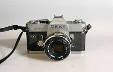 CANON FT CAMERA W/ 50MM F1.8 LENS & STRAP