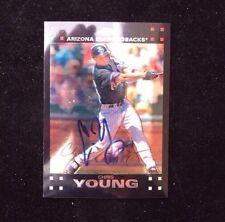 CHRIS YOUNG 2007 TOPPS CHROME Autographed Signed Baseball Card ARIZONA METS 122