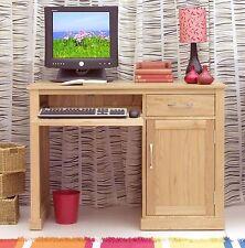 MoBEL Solid Oak 1 Door 2 Drawer Single Pedestal Computer Desk Wooden Storage