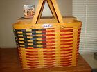Longaberger 1998 CC Basket Set Collectors Club 25th Anniversary FLAG *NEW*