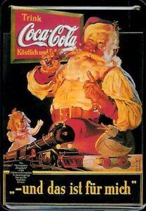 Coca Cola Xmas Metal Postcard 10 X 14 CM Tin Sign