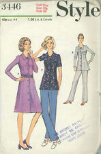 Vintage Dress & Pants in Half Sizes Sewing Pattern ST3446 Size 16.5