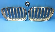 Set Left & Right Front Hood Grills Replace BMW OEM# 51137124815/6 Titanium X5