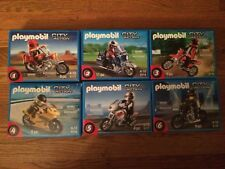Playmobil Motorbikes w/ Riders Lot of 6 Different New in Boxes! Read Description
