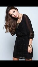 Love Culture  SHEER DOTTED SHIFT DRESS size L