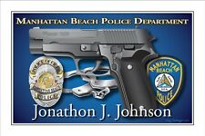 Police,MANHATTAN BEACH,Department,Sheriff,Retirement,Promotion,badge,gift