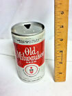 """Old Milwaukee old aluminum pull tab beer can 12 oz. 5.00"""" Schlitz brewing AW71"""