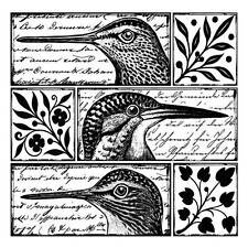 Crafty Individuals QUIRKY BIRDS Unmounted Red Rubber Stamp