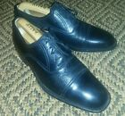 Magnanni Black Leather And Deer Skin Derby Shoes, Size 7 UK, 8 US, 41 EU.