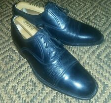 Magnanni Black Leather And Deer Skin Derby Shoes, Size 7 UK, 8 US, 41 EU.