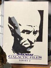 Star Wars Galactic Files Artist Sketch Card 1/1 Grand Moff Tarkin
