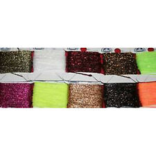 Fly Tying Micro Glitterbody woven floss lurex set of 10 colours