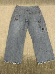 Vintage 90s Paco Baggy Wide Leg Hip Hop Skater Jeans 36x30 Blue Pockets