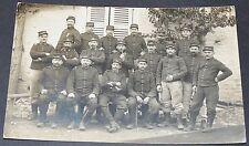 CPA CARTE PHOTO 1914 GUERRE 14-18 POILUS à identifier 48