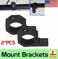 2x 1inch- 2inch Bull Bar Roll Tube Mounting Bracket Clamps LED Light Bar Offroad