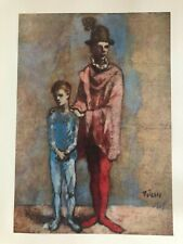 Pablo Picasso print, Two Saltimbanques , unframed,plate c1905