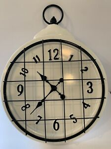 "Farmhouse Decor Wall Clock At Home Large 24x18"""