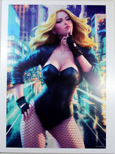 """BLACK CANARY ART PRINT by Stanley """"Artgerm"""" Lau ~ 12"""" x 16"""" ~ Great Condition"""