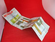 Metal Gear Nintendo NES Foldable Promo Poster / Map Insert ONLY