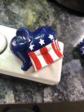 Retired Nora Fleming Mini GOP PATRIOTIC Republican Stars Stripes Elephant A99