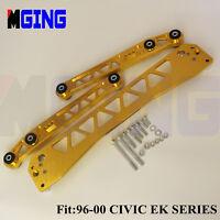 Billet Rear Lower Control Arm Subframe Brace EK FOR BWR 96-00 Honda Civic GOLDEN