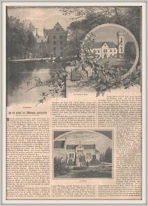 "Friedrichsroda-Reinhardsbrunn""Gruft d.Thüringer Landgrafen Orig.Holzstich v.1892"