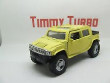 L HUMMER PICK UP IN YELLOW PULL BACK AND GO 125 MM LONG