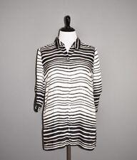 CHICO'S NEW $98 Ombre Striped Button Down Blouse 3 / XL