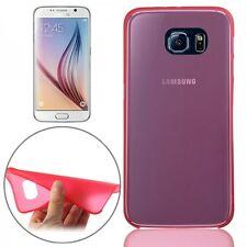 TAPA TRASERA ROJO Funda Estuche 0,3mm Delgado Brillante para Samsung Galaxy