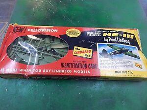 LINDBERG plastic old model aircraft kit HE-111