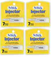 Schick Injector Single Edge Razor Blades - 7 Blades (4 Pack)