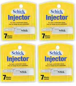 Schick Injector Single Edge Razor Blades - 7 Blades (4 Pack)