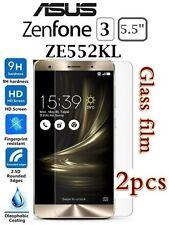 "2x ASUS Zenfone 3 Ze552kl 5.5"" Tempered Glass LCD Screen Protectors Film Guard"