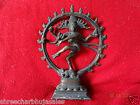 Vintage Solid Copper Hindu Tribal Dancing God Shiva Natraj Statue Figurine  08