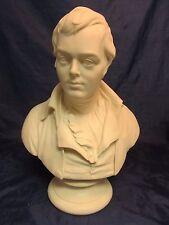"RARE 19th Century Antique Parian Ware Bust Sculpture ROBERT BURNS Wedgwood 14.5"""
