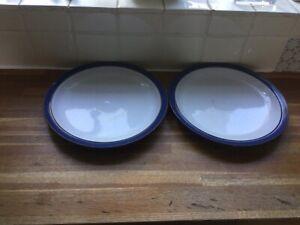 Denby - Imperial Blue- Dinner Plates X2.