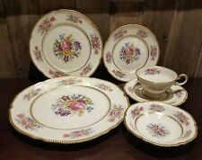 Castleton Rose Fine China 6 Pc Place setting Dinner Plate Cup Saucer Bowl 12 Avl