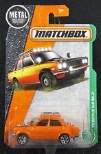 2017 Matchbox  '70 Datsun 510 Rally   Card #94   MB-7-103017