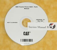 UE0904S Caterpillar D9H Track Type Tractor Power Shift Parts Manual Book CD
